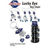 72 Units of LUCKY EYE KEY CHAINS