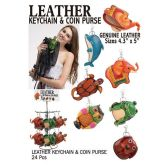 24 Units of LEATHER KEYCHAIN & COIN PURSE
