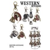 36 Units of WESTERN KEY CHAINS