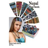 36 Units of NEPAL PATTERN HEAD BANDS - Head Wraps