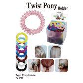 72 Units of TWIST PONY HOLDER - PonyTail Holders