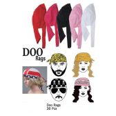 36 Units of DOO RAGS - Head Wraps