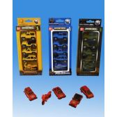 72 Units of Five Pieces die cast set in blister card assorted - Cars, Planes, Trains & Bikes