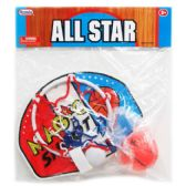 96 Units of ALL STAR BASKETBALL PLAY SET IN POLY BAG WITH HEADER - Sports Toys