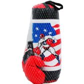 "10 Units of 20"" BOXING BAG (USA) W/ 9"" GLOVES IN PEGABLE NET BAG - Sports Toys"