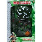 12 Units of SIX PIECE TOY MILITARY SET WITH TOY HELMET IN WINDOW BOX - Toy Weapons