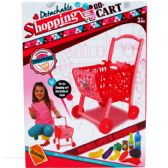"""12 Units of 14.5"""" SHOPPING CART WITH 10 PIECE ACCESORIES IN COLOR BOX - GIRLS TOYS"""
