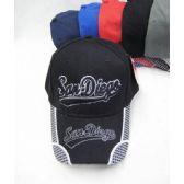 "36 Units of ""San Diego"" Base Ball Cap - Baseball Caps & Snap Backs"