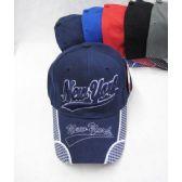 "36 Units of ""New York"" Base Ball Cap - Baseball Caps & Snap Backs"