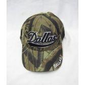 """36 Units of """"Dallas"""" Camo Base Ball Caps - Baseball Caps & Snap Backs"""