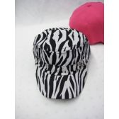 36 Units of Zebra Print Winter Cap