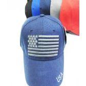 36 Units of American Flag Baseball Cap
