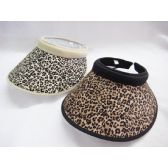 36 Units of Ladies Cheetah Visor Hat
