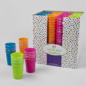 48 Units of 12oz 4 Pack Plastic Tumblers - Drinkware