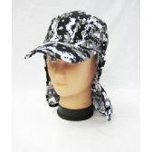 24 Units of Mens Boonie / Hiking Cap Hat in Digital Gray - Cowboy, Boonie Hat