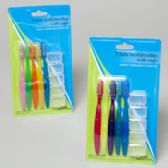 72 Units of Toothbrush Kids 5pk 2ast W/travl Caps Pastel/brites Hba Blstr Crd - Toothpicks