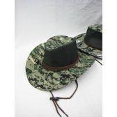 24 Units of Mens Cowboy Boonie Hat Digital Camo Green - Bucket Hats