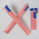 96 Units of Thunder Sticks Inflatable 2pk Patriotic 22x3in 24pc Msdgstrip - 4th Of July