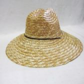 24 Units of Mens Straw Hat in Beige