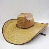 24 Units of Mens Cowboy Straw Hat in Beige - Bucket Hats