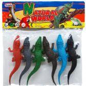 72 Units of 6 Piece Plastic Crocodiles Play Set