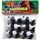 48 Units of 6 Piece Plastic Toy Panda