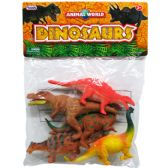 24 Units of 5 Piece Plastic Dinosaurs