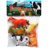 24 Units of Five Piece Plastic Farm Animals - Animals & Reptiles