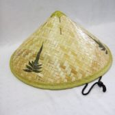 24 Units of Mens Bamboo Straw Hat in Beige with Leaves Print - Bucket Hats