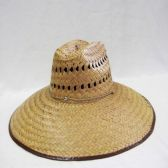 24 Units of Mens Straw Hat in Dark Brown - Bucket Hats