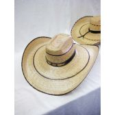 24 Units of Mens Straw Hat in Beige - Bucket Hats