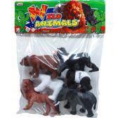 48 Units of 6 Piece Plastic Wild Animals