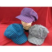 48 Units of Ladies Checkered Hat Assorted Colors