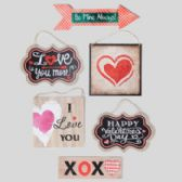 144 Units of Wall Plaque Valentine 6asst