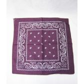 72 Units of Purple Paisley Bandana - Bandanas