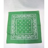 72 Units of Green Paisley Bandana - Bandanas