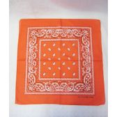 72 Units of Orange Paisely Bandana - Bandanas