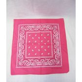 72 Units of Pink Paisley Bandana - Bandanas