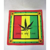 "72 Units of Marijuana ""Peace&Love""Bandana - Bandanas"