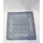 72 Units of Grey Paisely Bandana - Bandanas