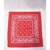 72 Units of Red Paisley Bandana - Bandanas