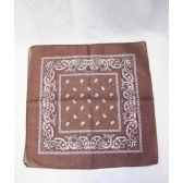 72 Units of Brown Paisely Bandana - Bandanas