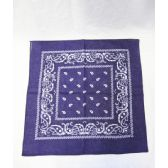 72 Units of Royal Blue Paisley Bandana - Bandanas
