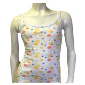 36 Units of Strawberry Girls Spaghetti Strap Tank Top Size 1-3 In White - Girls Underwear and Pajamas
