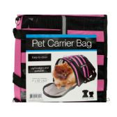 6 Units of Vented Pet Carrier Bag with Reflective Stripes - Pet Accessories