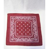 72 Units of Burgundy Paisley Bandana - Bandanas