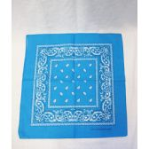 72 Units of Blue Paisley Bandana - Bandanas