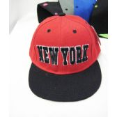 "36 Units of Kids ""New York"" Snap Back Cap - Kids Baseball Caps"