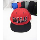 "36 Units of Kid's ""Dallas"" Base Ball Cap - Kids Baseball Caps"