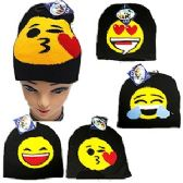 72 Units of KNIT EMOJI BEANIE SKI CAP. - Ski Gloves